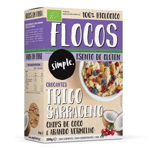 Flocos de Trigo Sarraceno com Coco e Arando